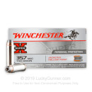 Cheap 357 Mag Ammo For Sale - 158 Grain JHP Ammunition in Stock by Winchester Super-X - 50 Rounds
