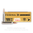 Premium 7mm Rem Mag Ammo For Sale - 160 Grain Barnes TSX Ammunition in Stock by Federal - 20 Rounds