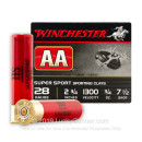 "28 Ga - 2-3/4"" AA Sporting Clays #7-1/2 Shot - Winchester - 25 Rounds"