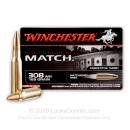Premium 308 Ammo For Sale - 168 gr HP-BT - Winchester Supreme Match Hollow Point Ammo Online - 20 rounds