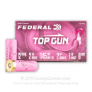 "12 Gauge Ammo - 2-3/4"" Lead Shot Pink Hull Target shells - 1-1/8 oz - #8 - Federal Top Gun - 25 Rounds"