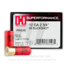 "Cheap 12 Gauge Ammo For Sale - 2-3/4"" 00 Buck Superformance Ammunition by Hornady - 10 Rounds"