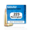 Cheap 223 Remington Ammo For Sale - 36 Grain Remanufactured Varmint Grenade HP Ammunition in Stock by Black Hills - 50 Rounds