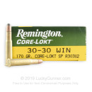 30-30 Ammo For Sale - 170 gr SP - Remington Core-Lokt Ammo Online