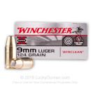 9mm Ammo - 124 gr BEB - Winclean Ammunition - 50 Rounds