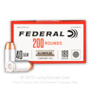 Bulk 40 S&W Ammo For Sale - 180 Grain FMJ Ammunition in Stock by Federal Champion - 1000 Rounds