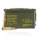 Bulk 7.62x51mm Ammo For Sale - 145 Grain FMJBT Ammunition in Stock by Prvi Partizan - 500 Rounds