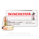 Bulk 9mm Ammo For Sale - 147 Grain JHP Ammunition in Stock by Winchester - 500 Rounds