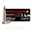 Premium 223 Rem Varmint Hunting Ammo For Sale - 55 gr Ballistic Silvertim Ammunition In Stock by Winchester - 20 Rounds