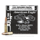 Bulk 5.56x45mm NATO Ammo For Sale - 55 Grain FMJ Ammunition in Stock by Federal American Eagle - 150 Rounds