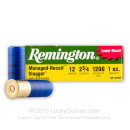 "Cheap 12 ga Ammo For Sale - 2-3/4"" 1oz Reduced Recoil Rifled Slug Ammunition by Remington - 250 Rounds"