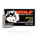 Cheap 223 Rem Ammo For Sale - 75 Grain HP Ammunition in Stock by Wolf Performance - 20 Rounds