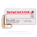Cheap Winchester 9x23mm Win Ammo For Sale - 124 gr JSP - Winchester USA Ammunition In Stock - 50 Rounds