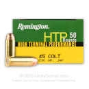 Bulk 45 Long Colt Ammo For Sale - 230 Grain JHP Ammunition in Stock by Remington HTP - 500 Rounds