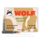 30-06 Ammo For Sale - 145 gr FMJ - Wolf Ammo Online