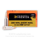 Premium 300 WSM Ammo For Sale - 180 Grain Nosler Partition Ammunition in Stock by Federal Premium - 20 Rounds