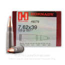 Bulk 7.6x39 Ammo For Sale - 123 Grain SST Polymer Tip Ammunition in Stock by Hornady - 500 Rounds