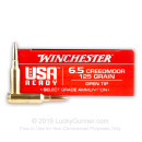 Premium 6.5mm Creedmoor Ammo For Sale - 125 Grain Open Tip Ammunition in Stock by Winchester USA Ready - 20 Rounds