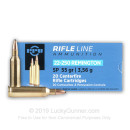 Cheap 22-250 Remington Ammo For Sale - 55 gr SP Ammunition In Stock by Prvi Partizan - 20 Rounds