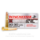 Premium 30-30 Ammo For Sale - 150 Grain JHP Ammunition in Stock by Winchester Super-X - 20 Rounds