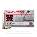 Premium 45-70 Government Ammo For Sale - 300 Grain JHP Ammunition in Stock by Winchester Super-X - 20 Rounds