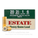 """Bulk 20 Gauge Ammo For Sale - 2-3/4"""" 1 oz. #6 Shot Ammunition in Stock by Estate Heavy Game Load - 250 Rounds"""