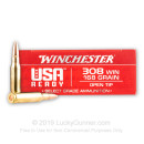 Premium 308 Ammo For Sale - 168 Grain Open Tip Ammunition in Stock by Winchester USA Ready - 20 Rounds