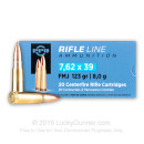 Brass Cased 7.62x39 Ammo In Stock - 123 gr FMJ - 7.62x39 Ammunition by Prvi Partizan For Sale - 20 Rounds