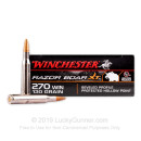 Premium 270 Ammo For Sale - 130 gr HP - Winchester Razorback XT Ammo Online - 20 Rounds