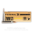 Premium 7mm Rem Mag Ammo For Sale - 168 Grain Berger Hybrid Hunter Ammunition in Stock by Federal - 20 Rounds