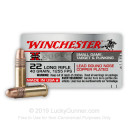 Cheap 22 LR Ammo For Sale - 40 Grain LRN Ammunition in Stock by Winchester Super X - 50 Rounds