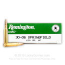 Cheap 30-06 Ammo Range Ammo For Sale - 150 gr MC - Remington UMC Ammo Online - 20 Rounds