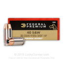 40 cal Ammo For Sale  - 180 gr Hydra Shok JHP Federal 40 S&W Ammunition - 20 Rounds