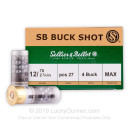 12 Gauge #4 Buck Ammo From Sellier & Bellot For Sale Online at LuckyGunner - 250 Rounds