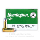 38 Special + P - 125 gr SJHP - Remington UMC- 500 Rounds