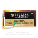 Cheap 223 Rem Ammo For Sale - 55 Grain Sierra GameKing BTHP Ammunition in Stock by Federal LE Tactical - 500 Rounds