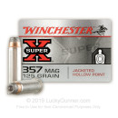Premium 357 Mag Ammo For Sale - 125 Grain JHP Ammunition in Stock by Winchester Super-X - 50 Rounds
