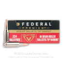 Premium .224 Valkyrie Ammo For Sale - 60 Grain Nosler Ballistic Tip Ammunition in Stock by Federal Premium - 20 Rounds