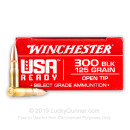 Premium 300 AAC Blackout  Ammo For Sale - 125 Grain OT Ammunition in Stock by Winchester USA Ready - 20 Rounds