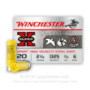 "Bulk 20 Gauge Ammo - 2-3/4"" Steel Shot Game and Target shells - 3/4 oz - #6 - Winchester Super X - 250 Rounds"