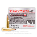 Premium 17 Hornet Ammo For Sale - 20 Grain Polymer Tipped Ammunition in Stock by Winchester Varmint-X - 20 Rounds