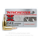 Cheap 243 WSSM Ammo For Sale - 100 Grain Power-Point SP Ammunition in Stock by Winchester Super-X - 20 Rounds