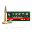308 Winchester - 168 gr Barnes Tipped Triple-Shock X Boat Tail - Fiocchi - 20 Rounds