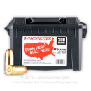 Cheap 45 ACP Ammo For Sale - 230 Grain FMJ Ammunition in Stock by Winchester - 300 Rounds in Ammo Can
