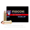 357 Mag Ammo For Sale - 158 gr JHP Fiocchi Ammunition In Stock