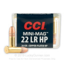 22 LR Ammo For Sale - 36 gr CPHP - CCI Mini Mag Ammunition In Stock - 100 Rounds