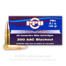 Cheap .300 AAC Ammo FOr Sale - 125 Grain FMJ Ammunition in Stock By Prvi Partizan - 20 Rounds