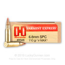 Bulk 6.8 Special Ammo In Stock  - 110 gr V-MAX - Hornady 6.8 Remington Special Ammunition For Sale Online - 200 Rounds