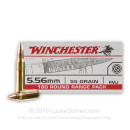 Bulk 5.56x45 Ammo For Sale - 55 Grain FMJ Ammunition in Stock by Winchester USA - 180 Rounds