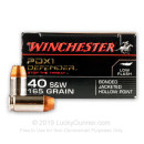 40 SW Ammo - 165 gr JHP - Winchester Supreme Elite Bonded Ammunition - 20 Rounds